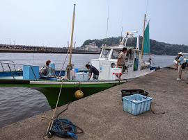 キス釣りの舟